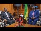 RTG/Audience du premier ministre avec le président de la BDEAC Fortunato- Ofa Mbo Nchama