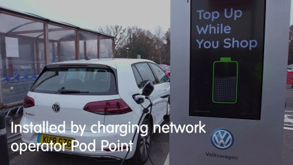 Volkswagen Partnership with Tesco and Pod Point
