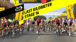 Last kilometer / Flamme rouge - Étape 16 / Stage 16 - Tour de France 2019