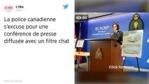 Canada. Sur Facebook, la police livre un point presse sur un double homicide avec un filtre chat activé