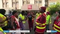 En grève, des femmes de chambre dénoncent leurs conditions de travail