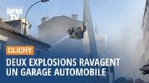 Clichy: deux violentes explosions soufflent un garage automobile