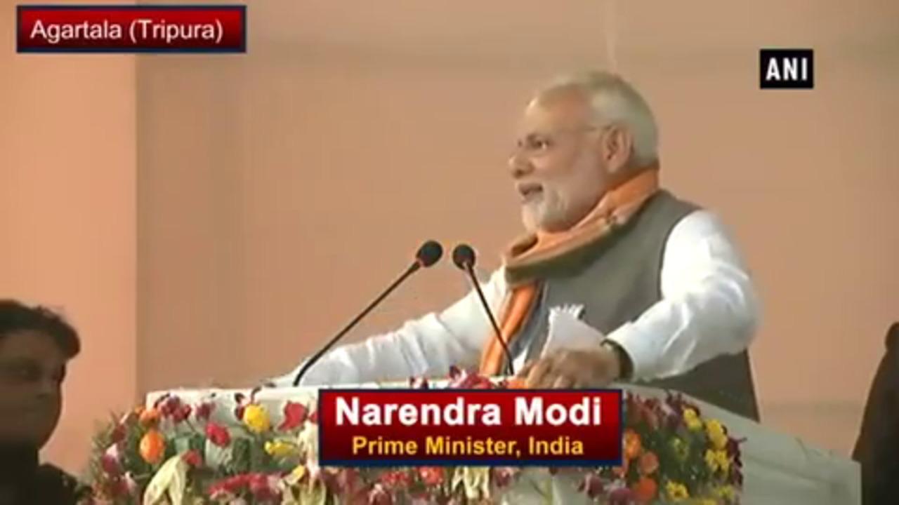 Left Believes In 'Gun-tantra' Not 'Gan-tantra' –  PM Modi