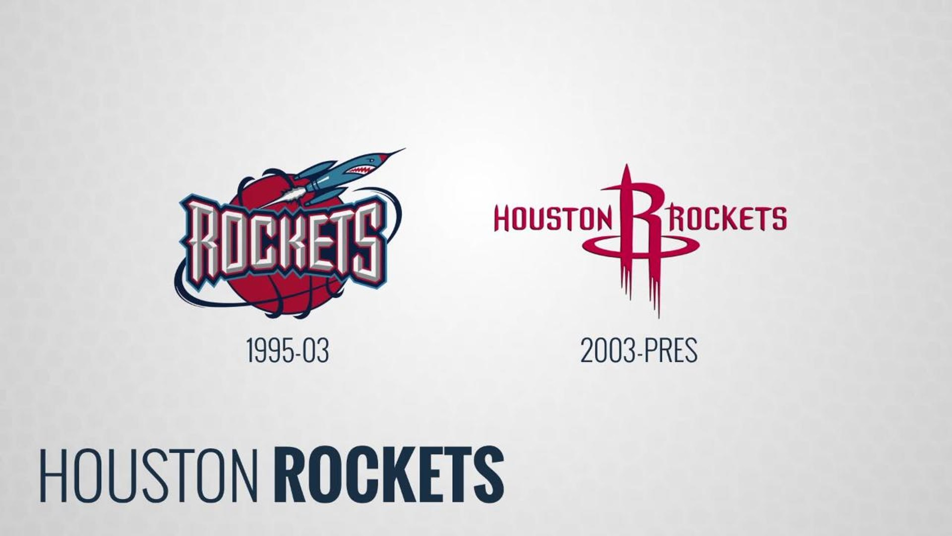 NBA Logo Evolution:  Houston Rockets
