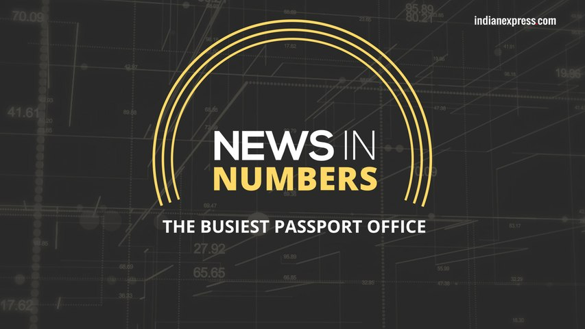 News in Numbers: India's busiest passport office.