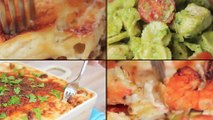 """4 أطباق متنوعة بالمكرونة""""مكرونة بصوص البيستو-مكرونة بالبشاميل-مكرونة بالجمبري-طاجن مكرونة بالسجق"""""""