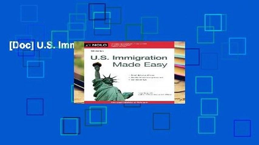 [Doc] U.S. Immigration Made Easy