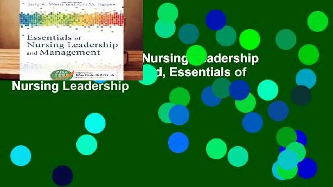 R.E.A.D Essentials of Nursing Leadership   Management (Whitehead, Essentials of Nursing Leadership