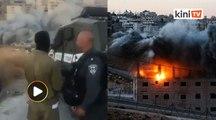Askar Israel gembira robohkan rumah warga Palestin