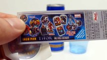 Superman Energy Drink + Iron Man & Thor Surprise Egg Unboxing