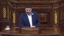 Un Gabriel Rufián conciliador llama al acuerdo entre Pedro Sánchez y Pablo Iglesias