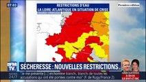 Canicule: touchée par la sécheresse, la Loire-Atlantique relève le niveau des restrictions d'eau