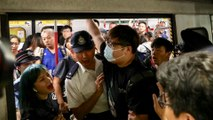Extradition bill protesters cause rush hour chaos in Hong Kong by blocking main MTR rail line