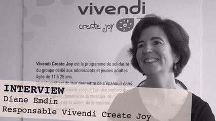 Interview de Diane Emdin, Responsable du programme de solidarité Vivendi Create Joy