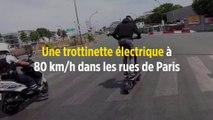 Une trottinette électrique à 80 km/h dans les rues de Paris