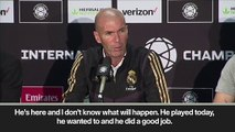Eng Sub:'Bale played well but I make the decisions' says Zidane