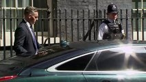May departs Downing Street for final PMQs
