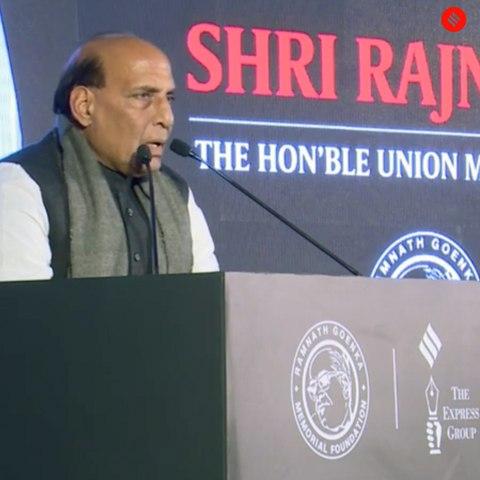 Ramnath Goenka Awards: 5 key takeaways from Rajnath Singh's speech