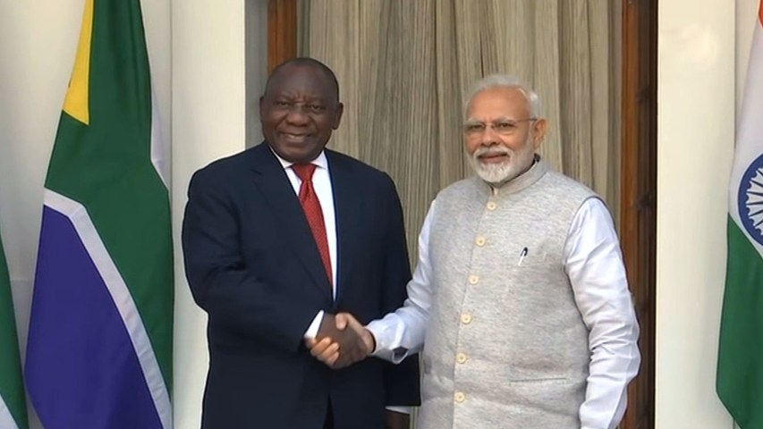 South African President Cyril Ramaphosa remembers Gandhi & Mandela