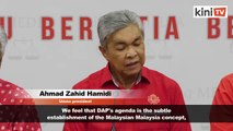Zahid: Umno will not cooperate with parties working with DAP