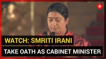 WATCH: Smriti Irani takes oath as Cabinet Minister