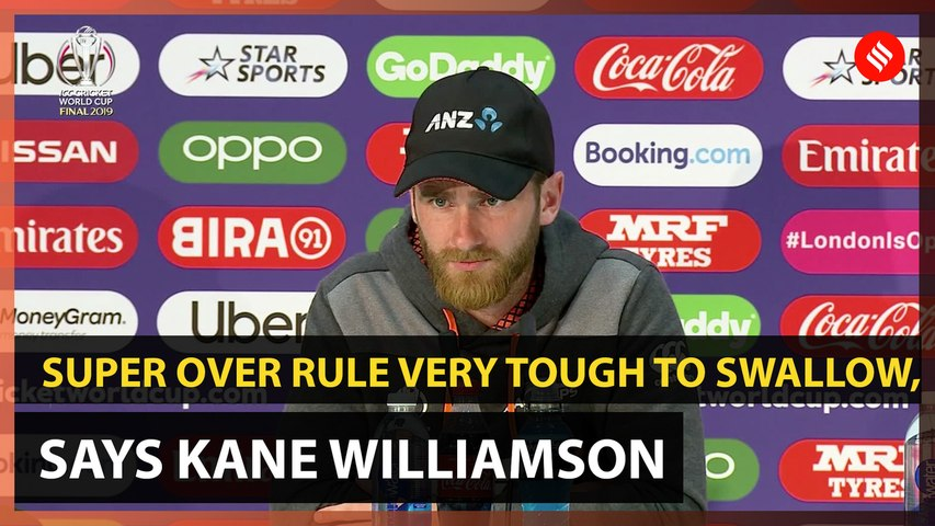 Super Over rule very tough to swallow, says Kane Williamson