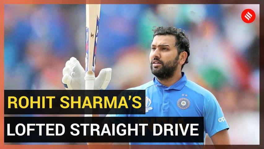Rohit Sharma's lofted straight drive — Gentle, graceful, delightful