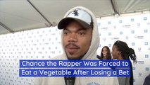 Chance The Rapper Has To Eat His Veggies