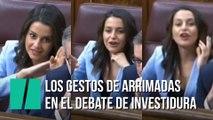 Los gestos de Inés Arrimadas durante el debate de investidura