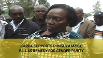 Karua supports Punguza Mzigo bill as remedy for gender parity