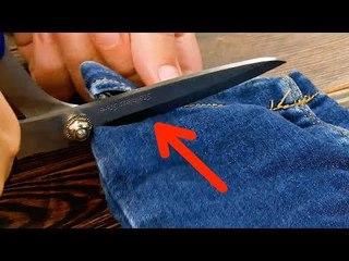 Schneid den Saum deiner Jeans ab. Bei dem, was danach kommt, wirst du Augen machen.