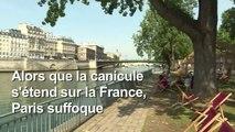 Paris suffoque et cherche la fraîcheur