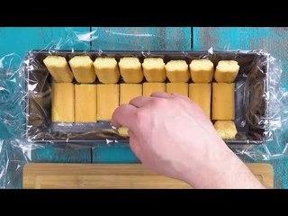 Lege die Kastenform mit Löffelbiskuits aus. Dann geht's ans Filetieren.