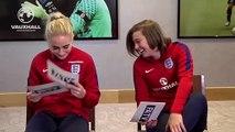 ENGLAND WOMEN - football team mate test