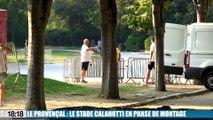 Le Provençal : le stade Calanotti en phase de montage