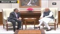 PM Modi meets Microsoft CEO Bill gates