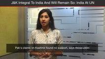 India Responds To Pakistan's Allegations At UN, Says Jammu & Kashmir Integral To India