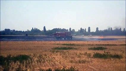 Briennois : une quinzaine d'hectares de champ à nouveau en feu