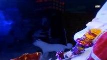 Watch- Mumbaikars Make A Beeline To Worship 300-Kg Snow Ganpati