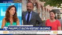 Canicule: Édouard Philippe et Agnès Buzyn visitent un Ehpad