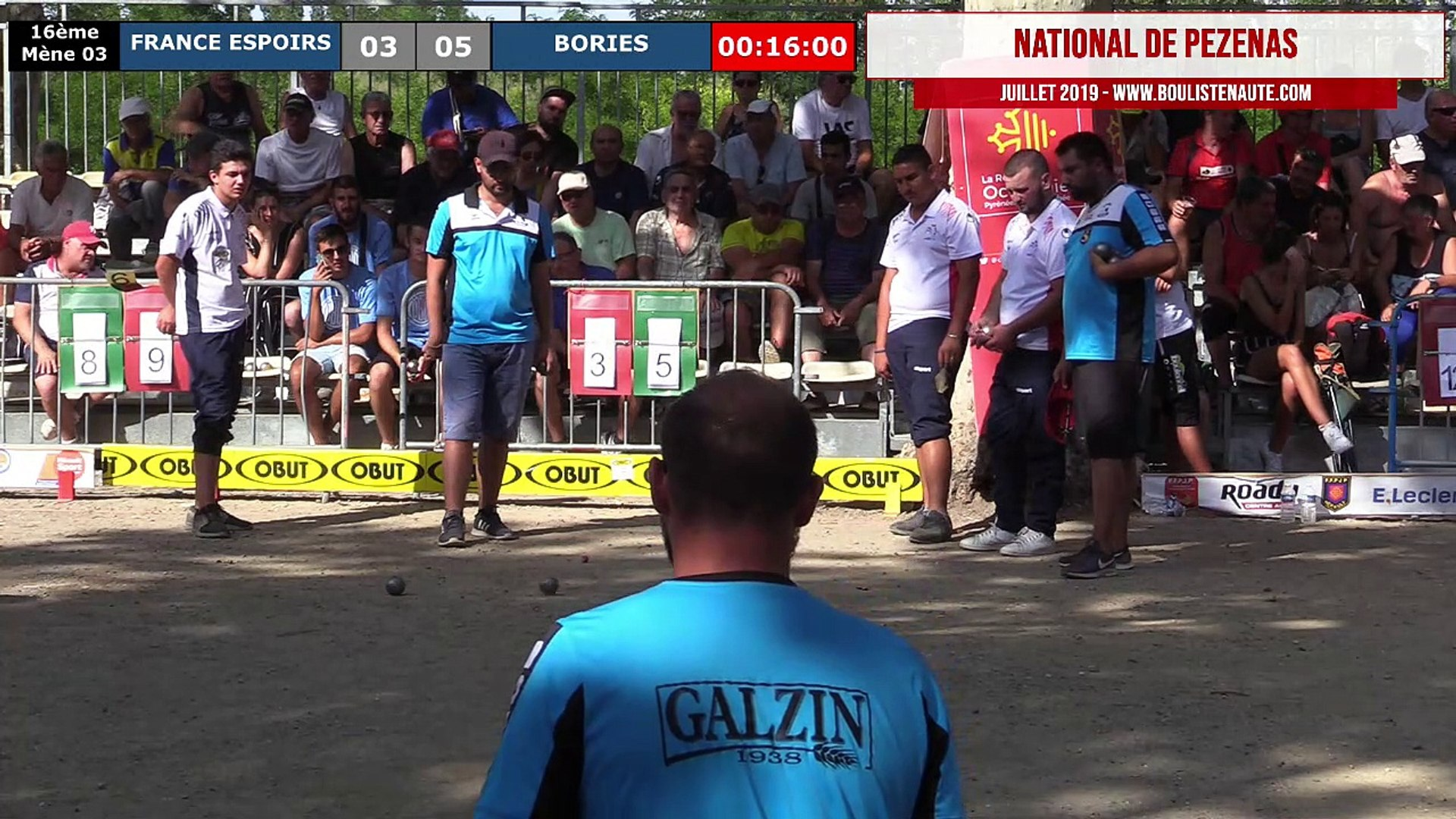 National de Pézenas 2019, le jubilé ! 16ème de finale France Espoirs VS Bories