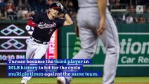 Nationals' Trea Turner Hits Second Career Cycle Against Rockies