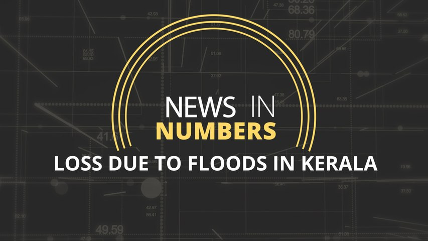 The amount of loss in Kerala because of floods: News in Numbers