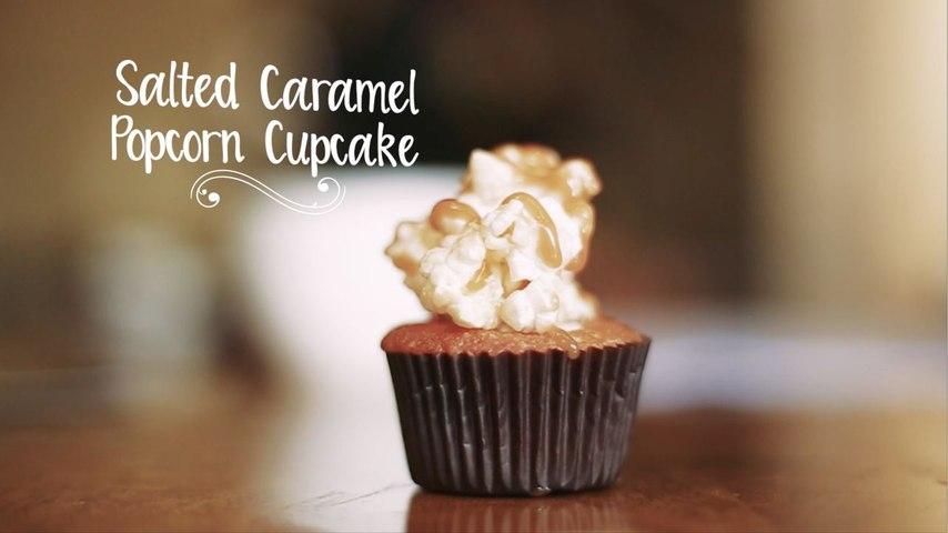 Salted Caramel Popcorn Cupcake by Pooja Dhingra