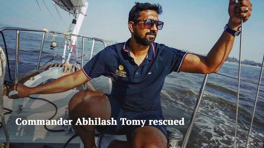 Golden Globe Race Commander Abhilash Tomy rescued by French vessel