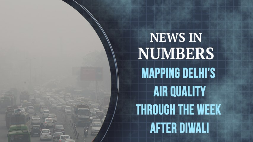 Mapping Delhi's air quality, the week after Diwali: News in Numbers