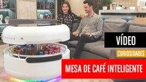 [CH] La mesa de café con nevera, altavoces, pantalla LED y cargador inalámbrico