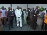 RTB/Visite du Premier Ministre à la salle des conférences de Ouaga 2000 pour faire le constat des préparatifs du 8ème Traité d'Amitié et de Coopération entre le Burkina Faso et la Cote d'Ivoire