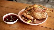 Christmas Recipe - Roast Turkey with Cranberry Sauce