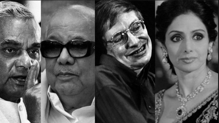 In Memoriam: Famous Personalities we lost in 2018